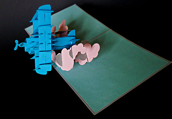 Airplane II 3D Pop Up Greeting Card 2