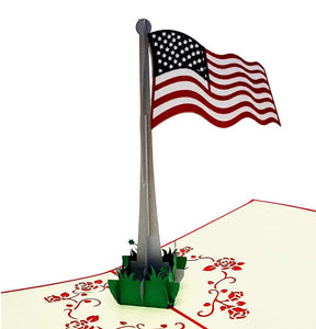 American Flag 3D Pop Up Greeting Card 1 Cover