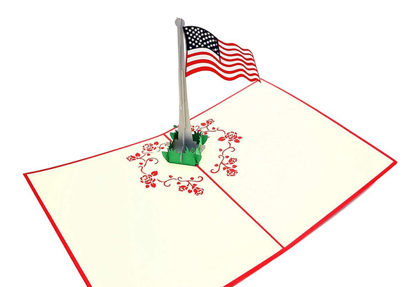 American Flag 3D Pop Up Greeting Card 2