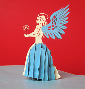 Angel (Blue) 3D Pop Up Greeting Card 1