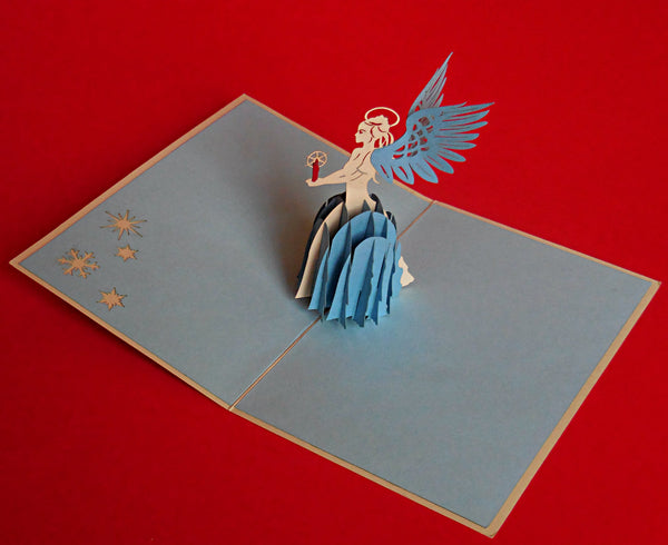 Angel (Blue) 3D Pop Up Greeting Card 2
