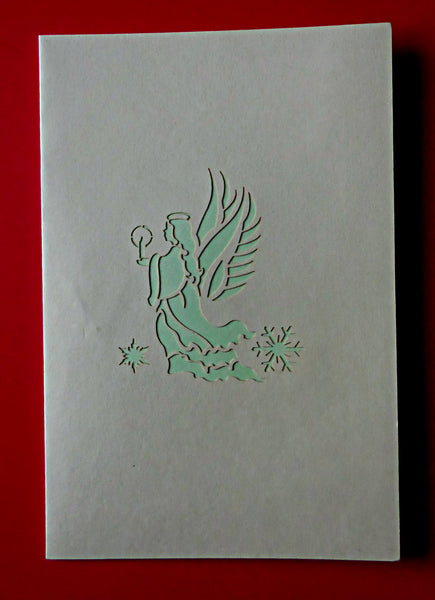 Angel (Green) 3D Pop Up Greeting Card 3