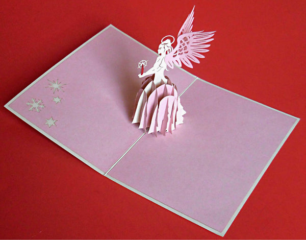 Angel (Pink) 3D Pop Up Greeting Card 2