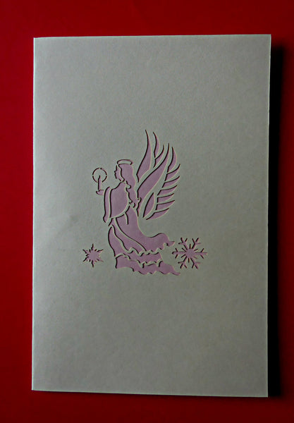 Angel (Pink) 3D Pop Up Greeting Card 3