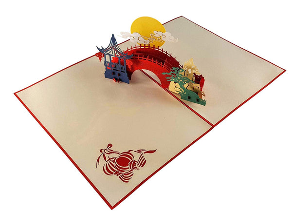 Asian Pavilion Scenery 3D Pop Up Greeting Card 5