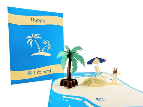 Awesome Happy Retirement 3D Pop Up Greeting 1 front