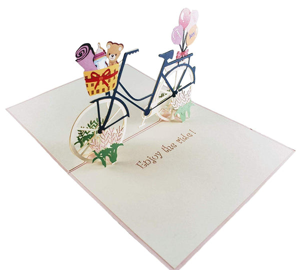 Baby Boy Bike Shower 3D Pop up Greeting Card 5