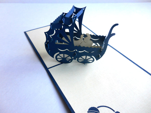 Baby Stroller 3D Pop Up Greeting Card 2