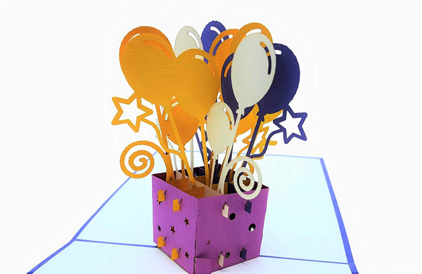 Balloon Bouquet 3D Pop Up Greeting Card 2