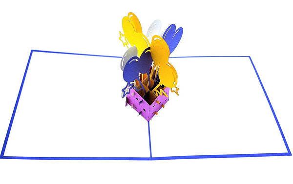 Balloon Bouquet 3D Pop Up Greeting Card 3