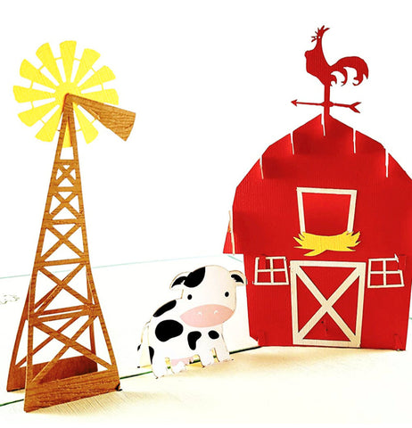 Barn 3D Pop Up Greeting Card 1