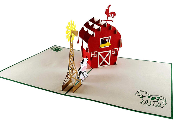 Barn 3D Pop Up Greeting Card 2