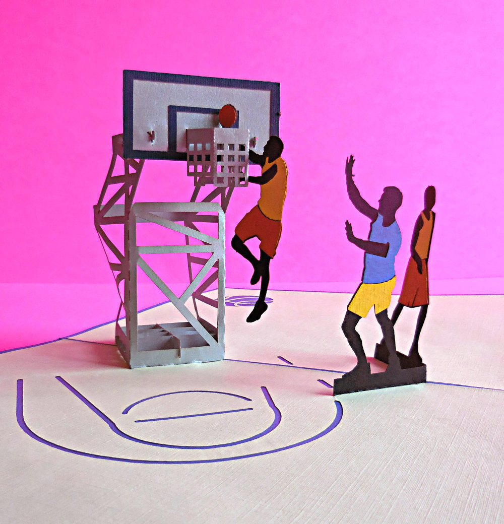 Basketball 3D Pop Up Greeting Card 1