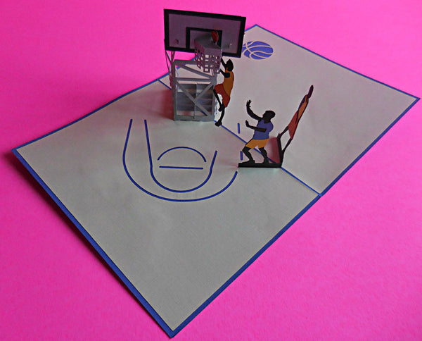Basketball 3D Pop Up Greeting Card 2