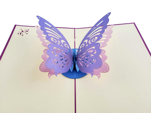 Bi-Color Butterfly 3D Pop Up Greeting Card 4