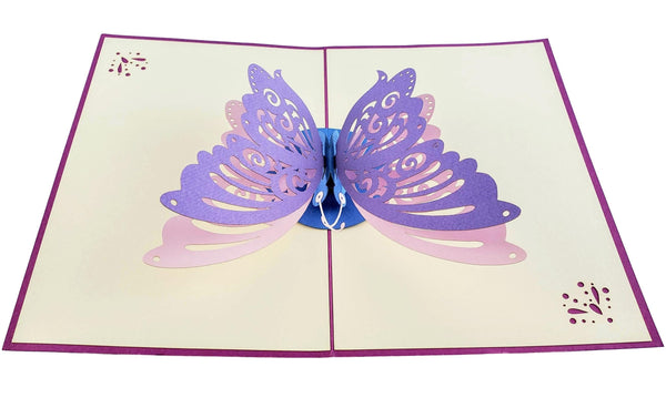 Bi-Color Butterfly 3D Pop Up Greeting Card 5