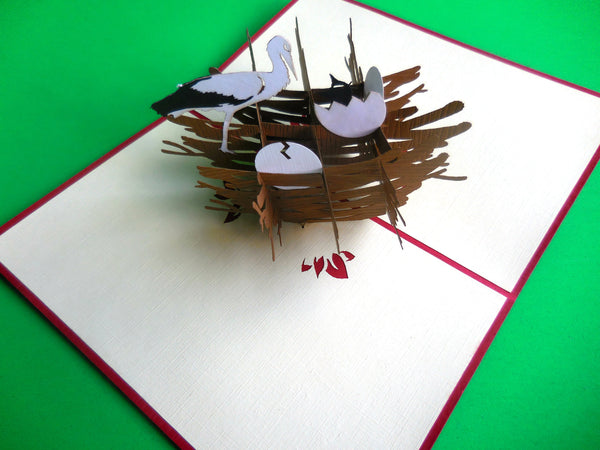 Bird Nest 3D Pop Up Greeting Card 2