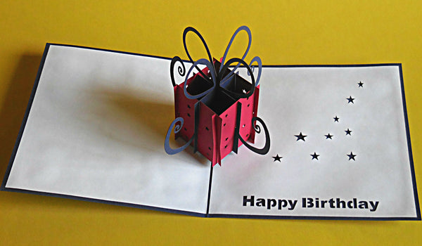 Birthday Present 3D Pop Up Greeting Card 2