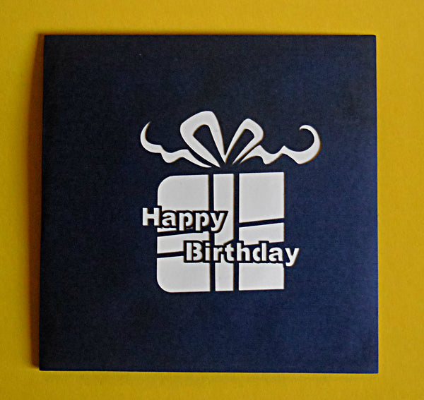 Birthday Present 3D Pop Up Greeting Card 3