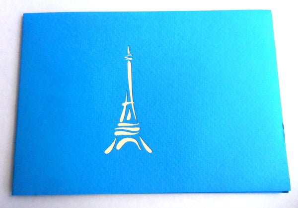 Eiffel (Blue) 3D Pop Up Greeting Card 3