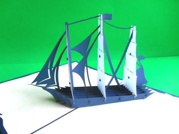Sailboat 3D Pop Up Greeting Card 3
