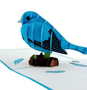 Bluebird of Happiness 3D Pop Up Greeting Card 01 front