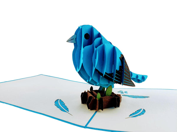 Bluebird of Happiness 3D Pop Up Greeting Card 4