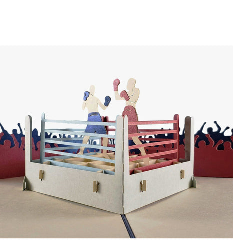 Boxing II 3D Pop Up Greeting Card 01 front