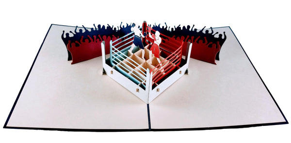 Boxing II 3D Pop Up Greeting Card 2