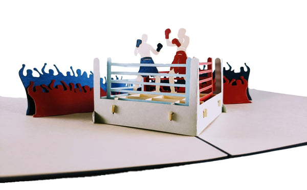 Boxing II 3D Pop Up Greeting Card 3