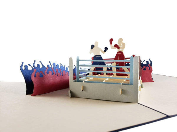 Boxing II 3D Pop Up Greeting Card 5