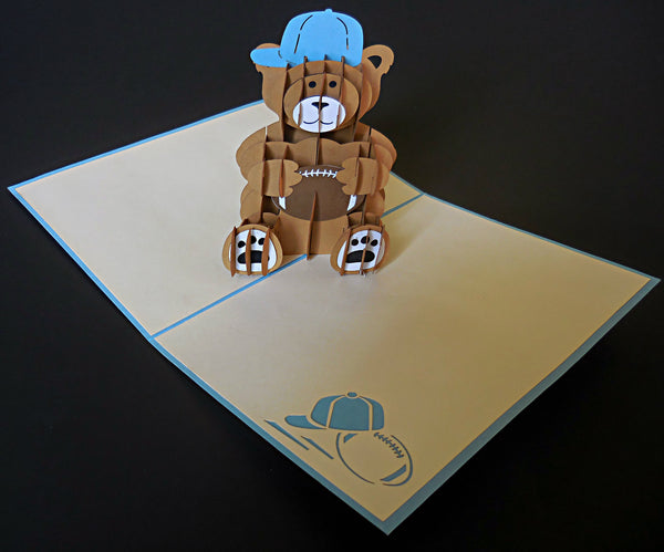 Boy Bear 3D Pop Up Greeting Card 2