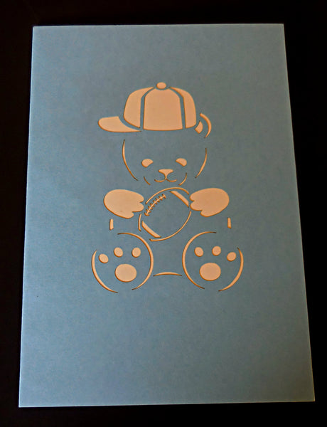 Boy Bear 3D Pop Up Greeting Card 3