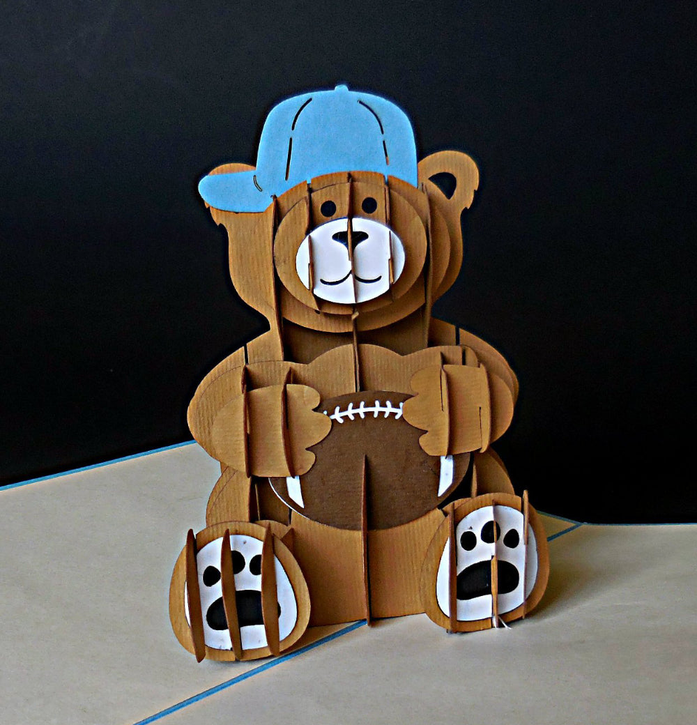 Boy Bear 3D Pop Up Greeting Card 1