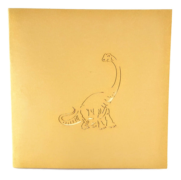 Long Neck Dinosaur 3D Pop Up Greeting Card 4
