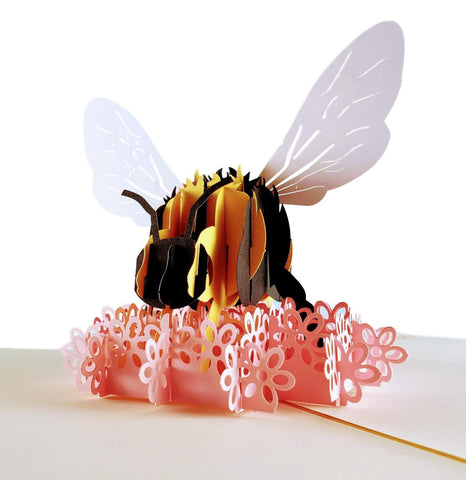 Bumblebee 3D Pop Up Card 01 front