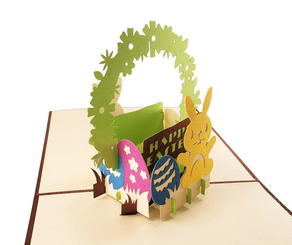 Bunny And Easter Eggs 3D Pop Up Greeting Card 2
