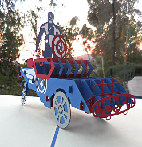 Captain America 3D Pop Up Greeting Card 1