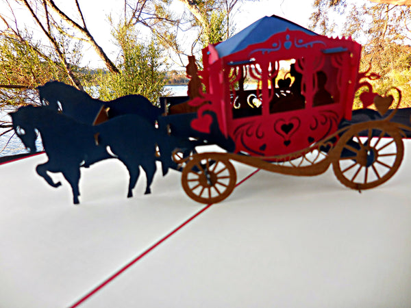 Carriage 3D Pop Up Greeting Card 2