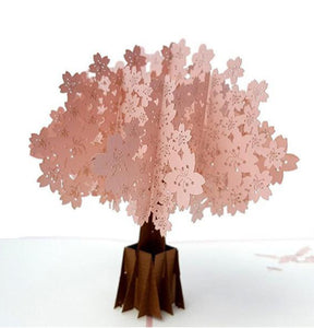 Cherry Blossom (Pink Cover) 3D Pop Up Greeting Card 1