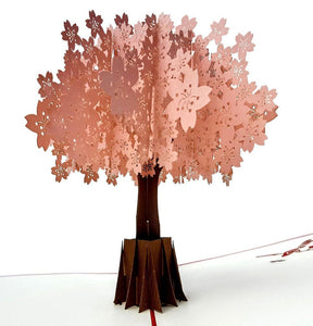 Cherry Blossom (Red Cover) 3D Pop Up Greeting Card 1