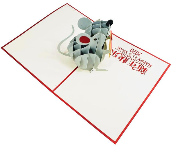 Chinese New Year Rat 3D Pop Up Greeting Card 7