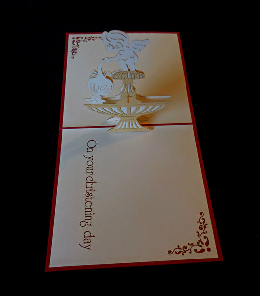 Christening 3D Pop Up Greeting Card 2