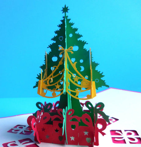 Christmas Tree 3D Pop Up Greeting Card 1