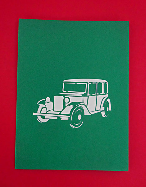 Classical Car 3D Pop Up Greeting Card 4