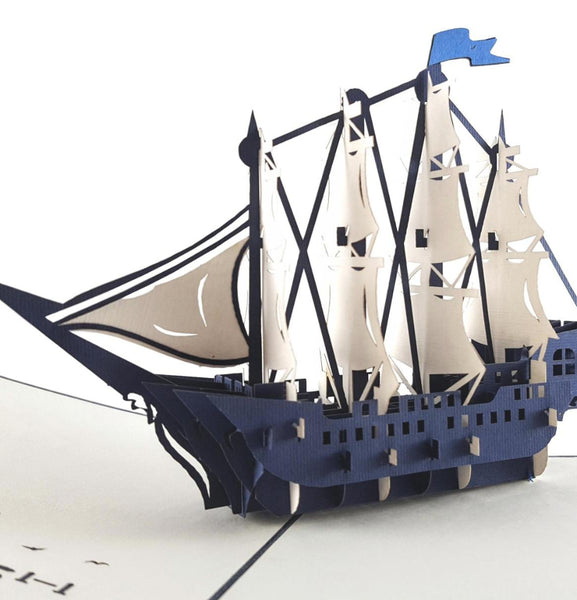Clipper Ship 3D Pop Up Greeting Card 1