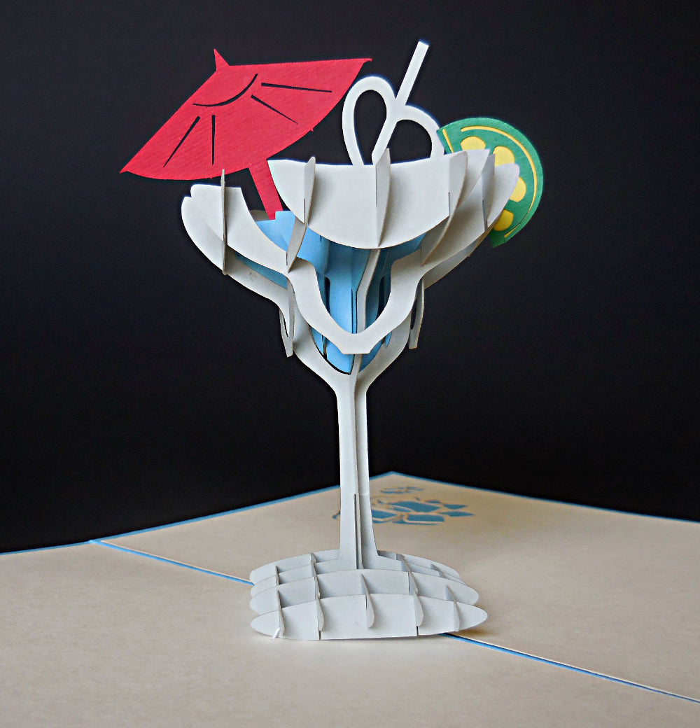 Cocktail 3D Pop Up Greeting Card 1