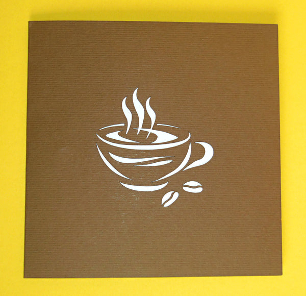 Coffee Time 3D Pop Up Greeting Card