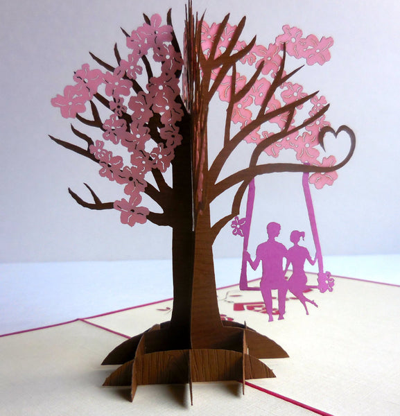 Couple Swing 3D Pop Up Greeting Card 1