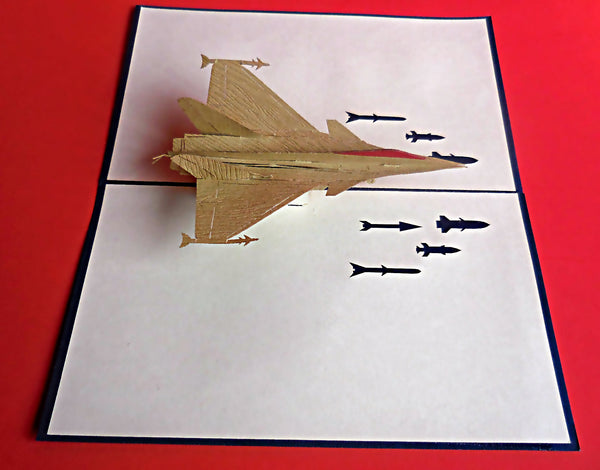 Military Aircraft 3D Pop Up Greeting Card 3